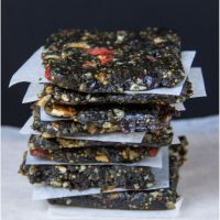 No-bake fig and prune nut bars