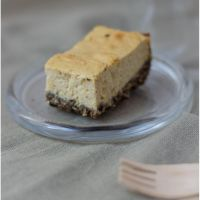 Apricot tofu cheesecake bars with a surprise crust!