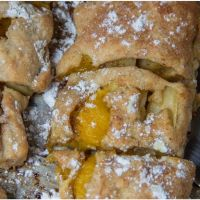 Apple and mango strudel