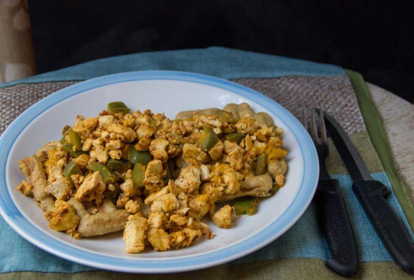 plated tofuwaffle