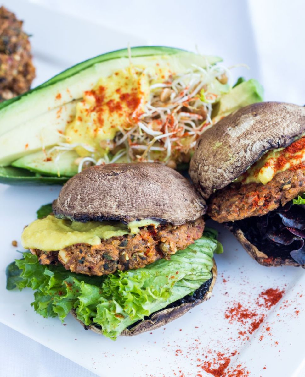 Sprouted lentil + rice burgers