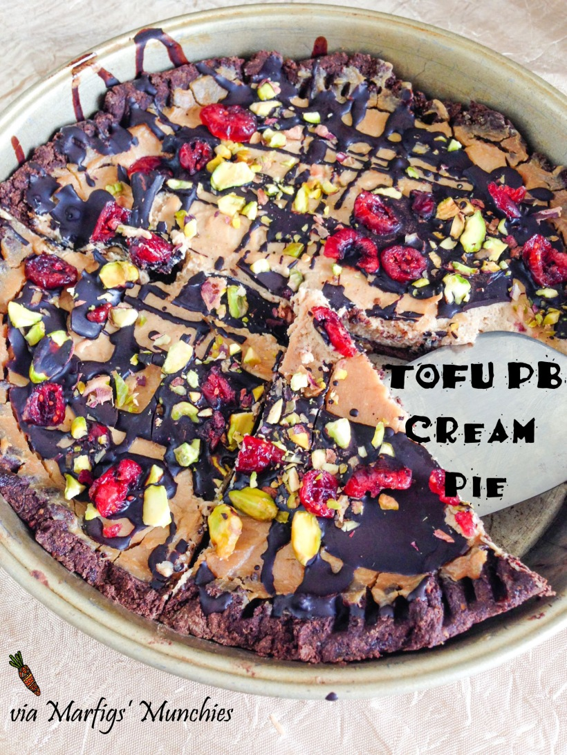 Tofu PB cream pie {vegan} via Marfigs' Munchies
