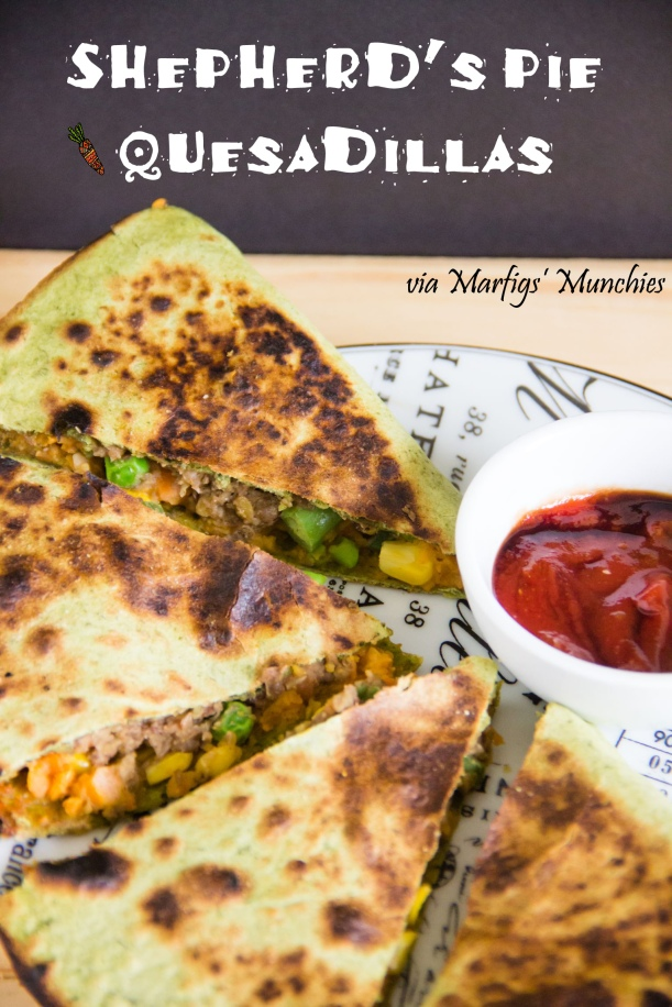 Vegan & GF Shepherd's Pie Quesadillas via Marfigs' Munchies