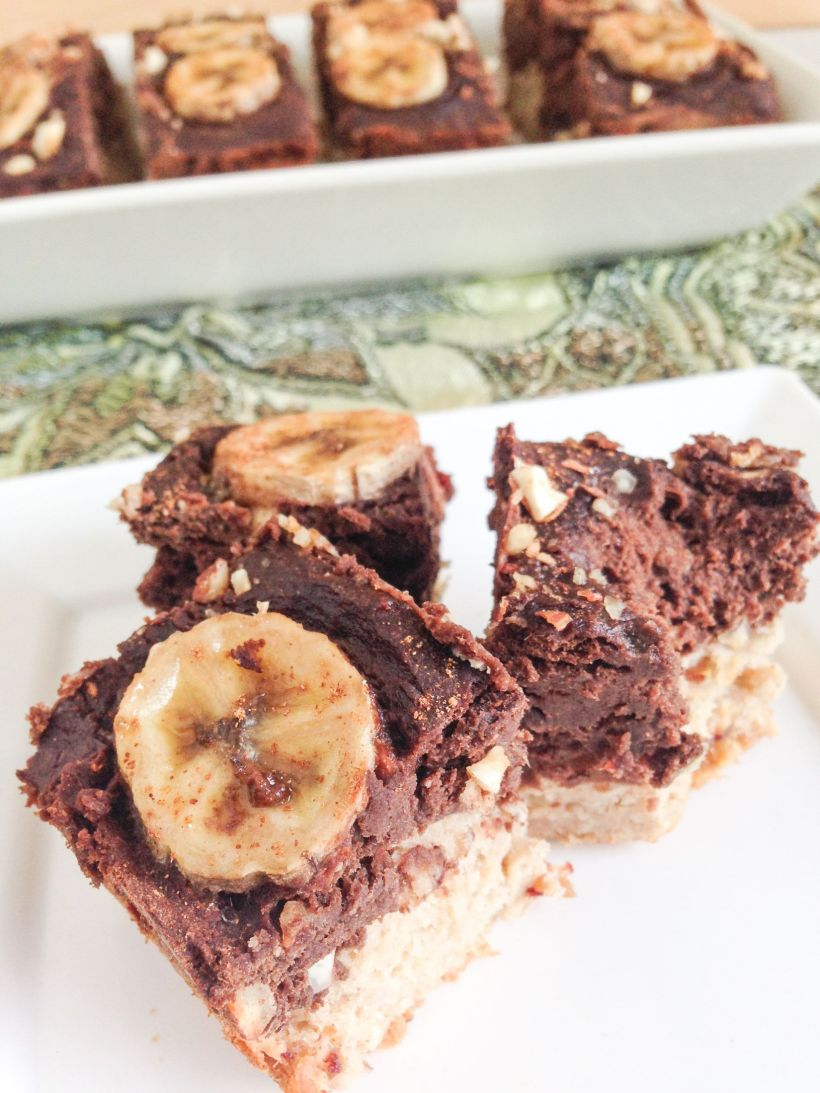 Choc banana loaf bars via Marfigs' Munchies {vegan + gluten-free}