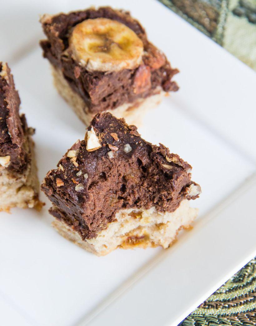 Choc banana loaf bars via Marfigs' Munchies {vegan + gluten-free}