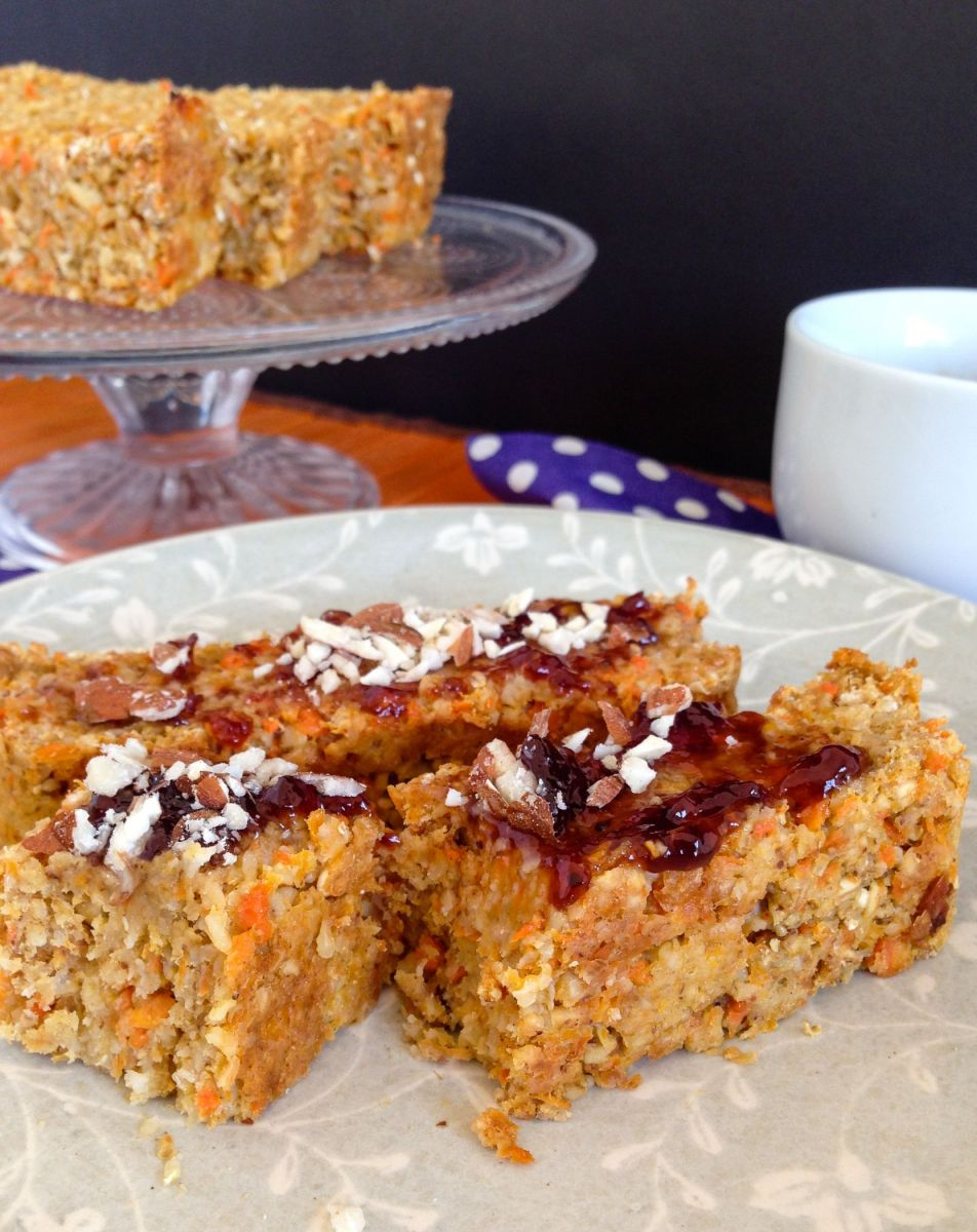 Carrot + peach breakfast loaf {vegan + gluten-free}