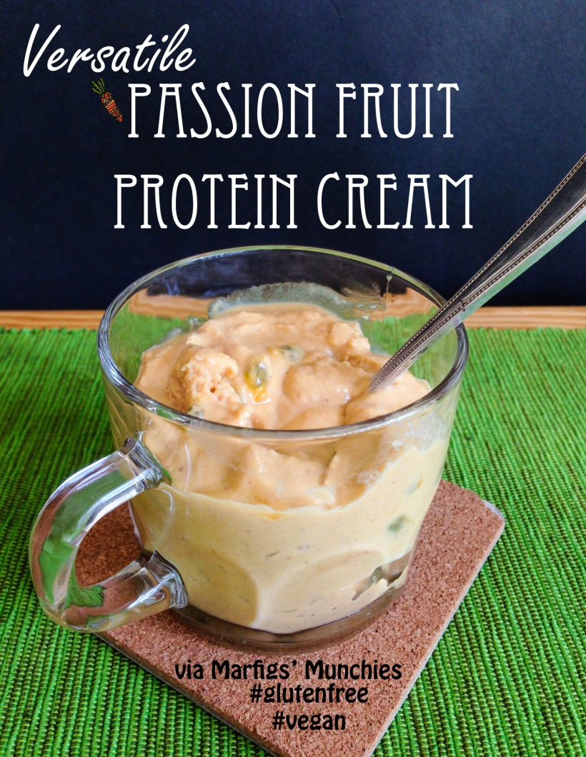 Versatile passion fruit protein cream #vegan + #glutenfree via Marfigs' Munchies