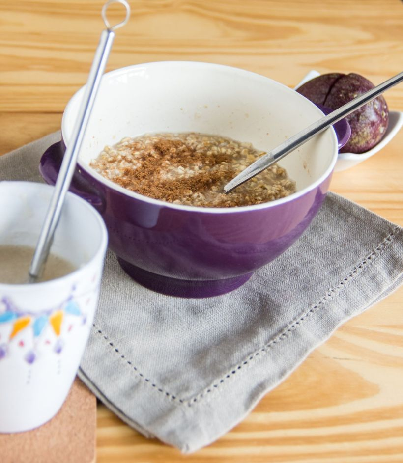 Creamy protein oat porridge #vegan and #glutenfree via Marfigs' Munchies